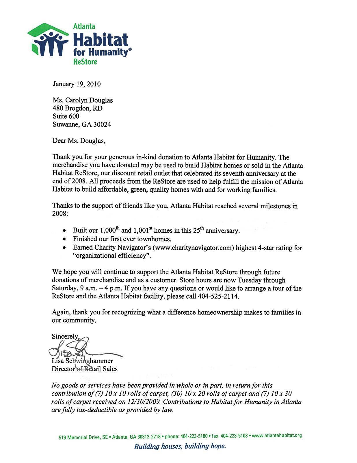 Sample Donation Letter Template