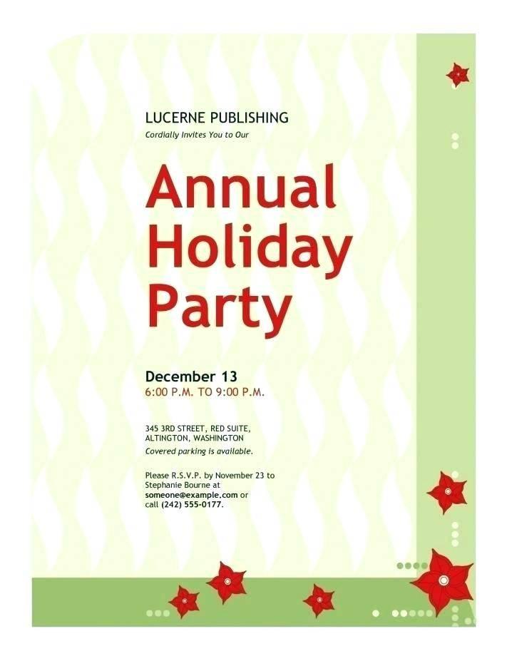Sample Holiday Invitation Templates