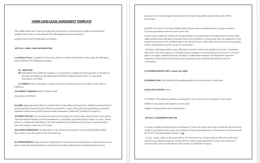 Vacant Land Lease Agreement Form Forms Odqxoq Resume
