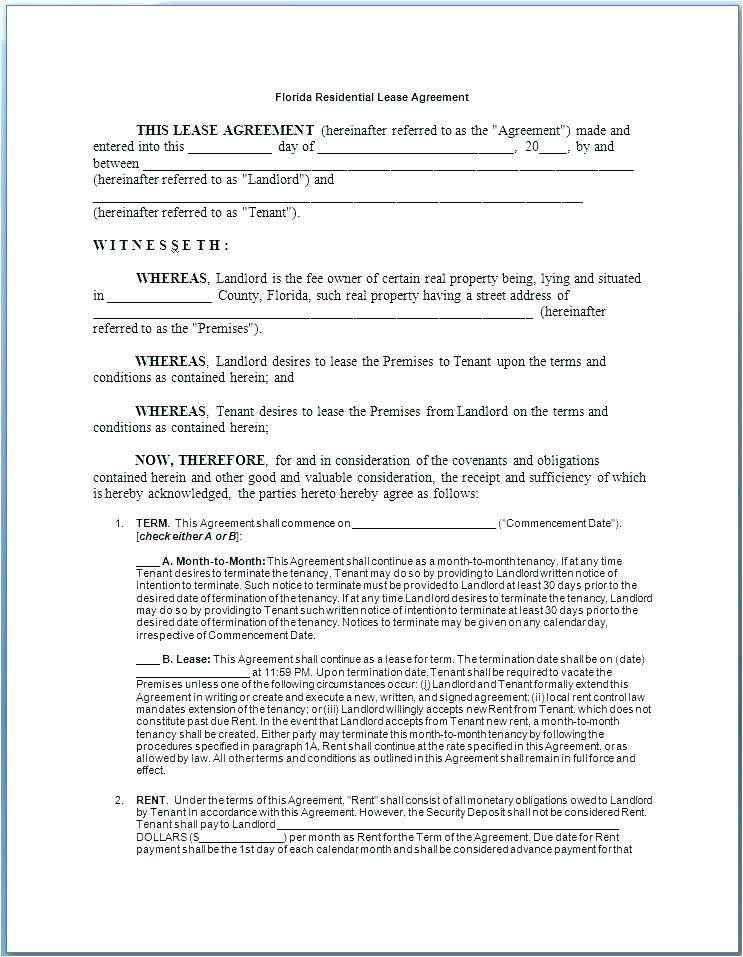 Sample Of Lease Agreement Ontario
