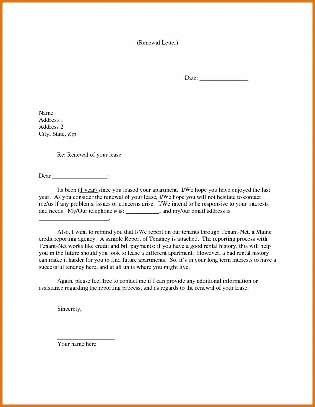Sample Of Lease Agreement