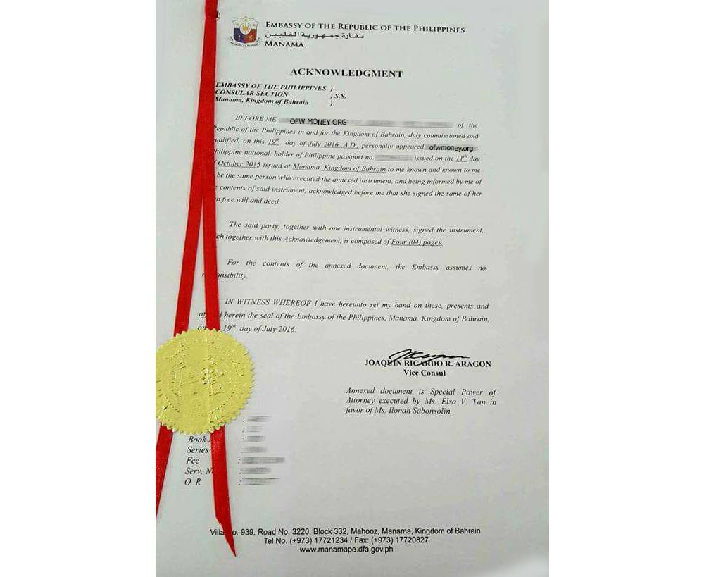 Sample Of Power Of Attorney In The Philippines