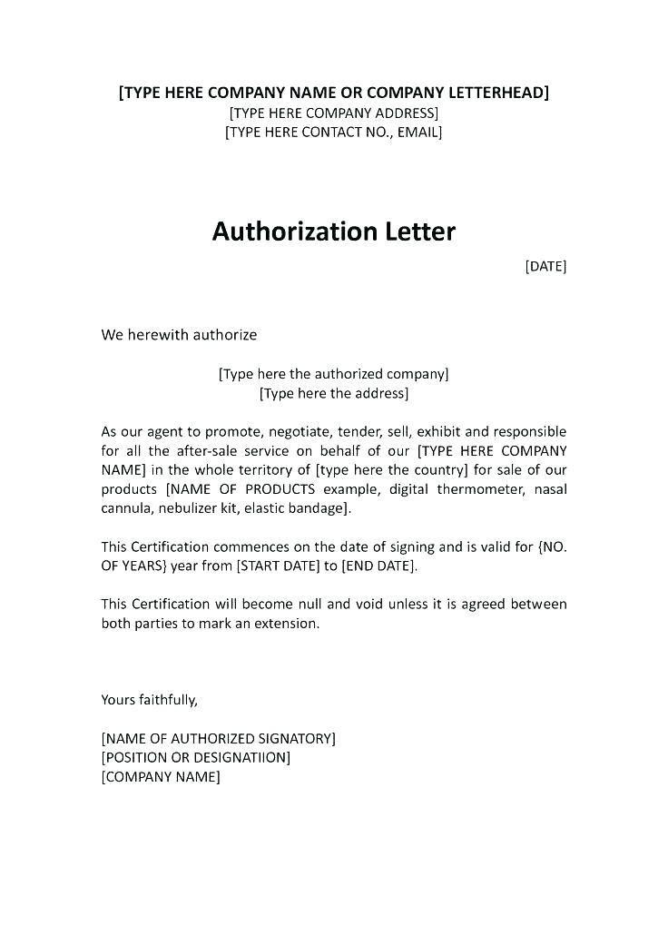 Sample Power Of Attorney Letter For Tender
