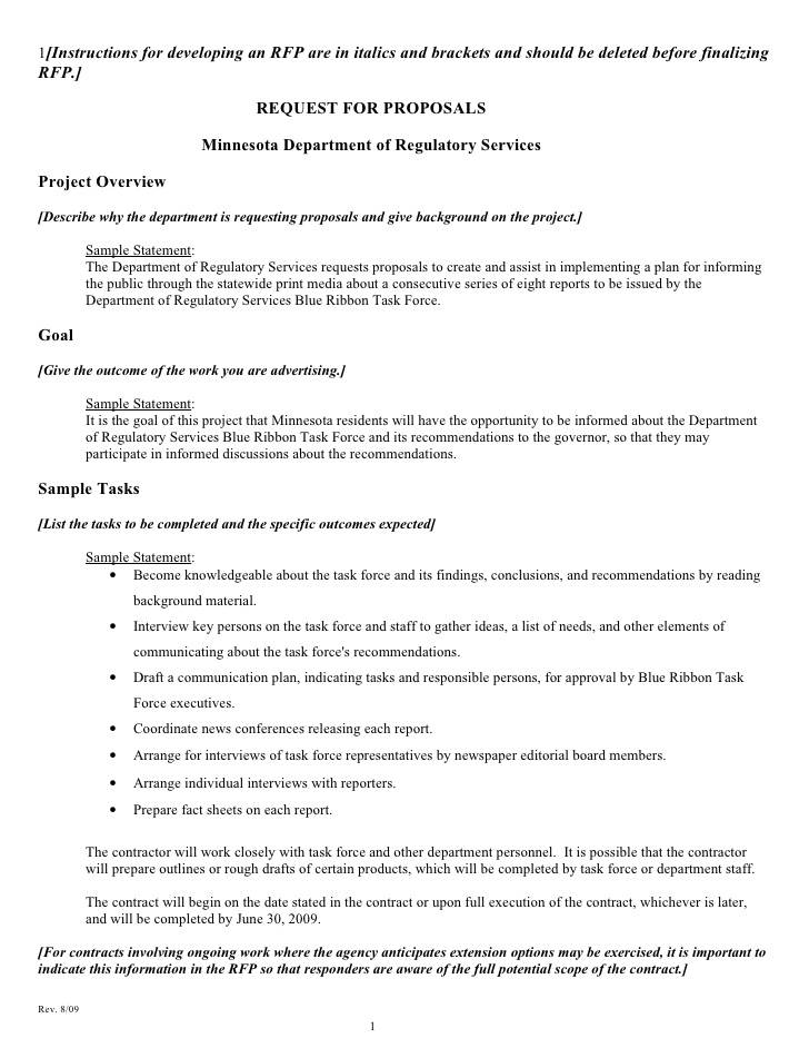Sample Rfp Word Document