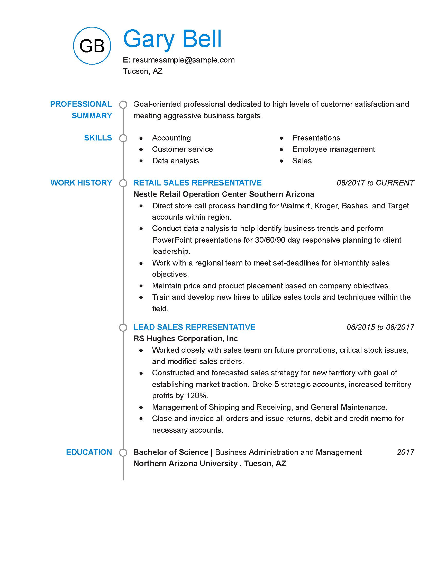 Sample Skills For Customer Service Resume
