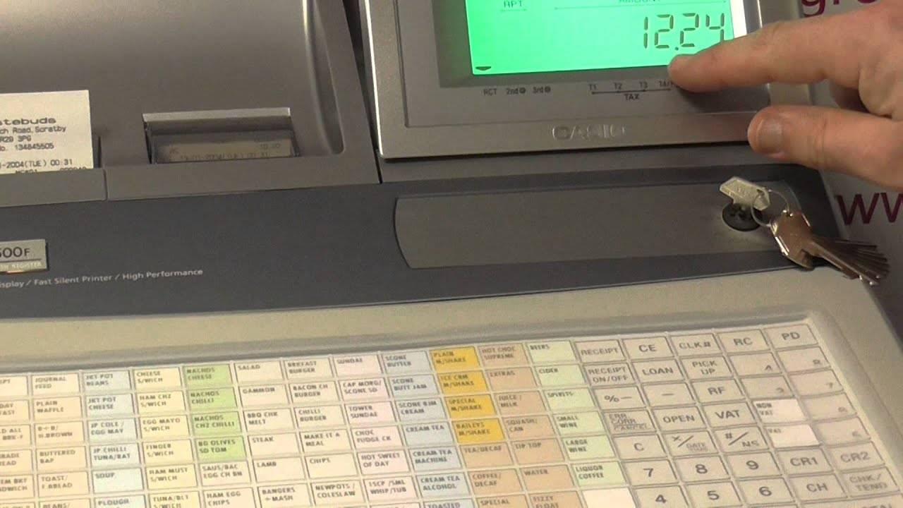 Samsung Cash Register Keyboard Template