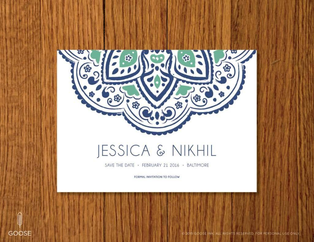 Save The Date Indian Wedding Templates Free