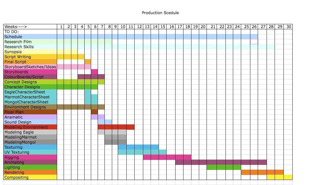 Schedule Spreadsheet Template Excel
