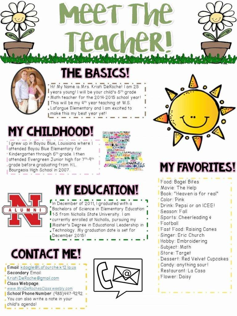 School Newsletter Templates Google Docs