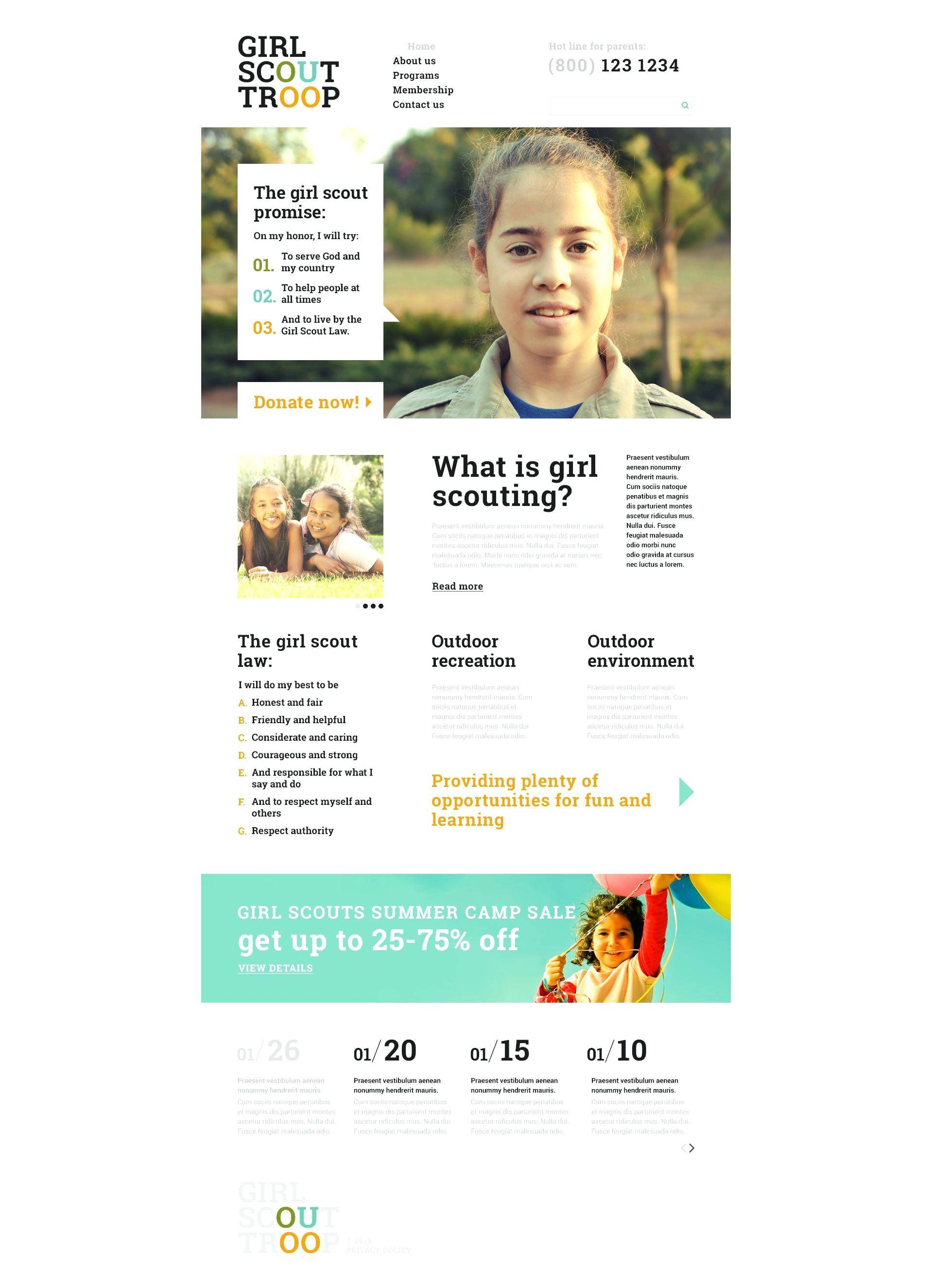 Scout Group Website Template