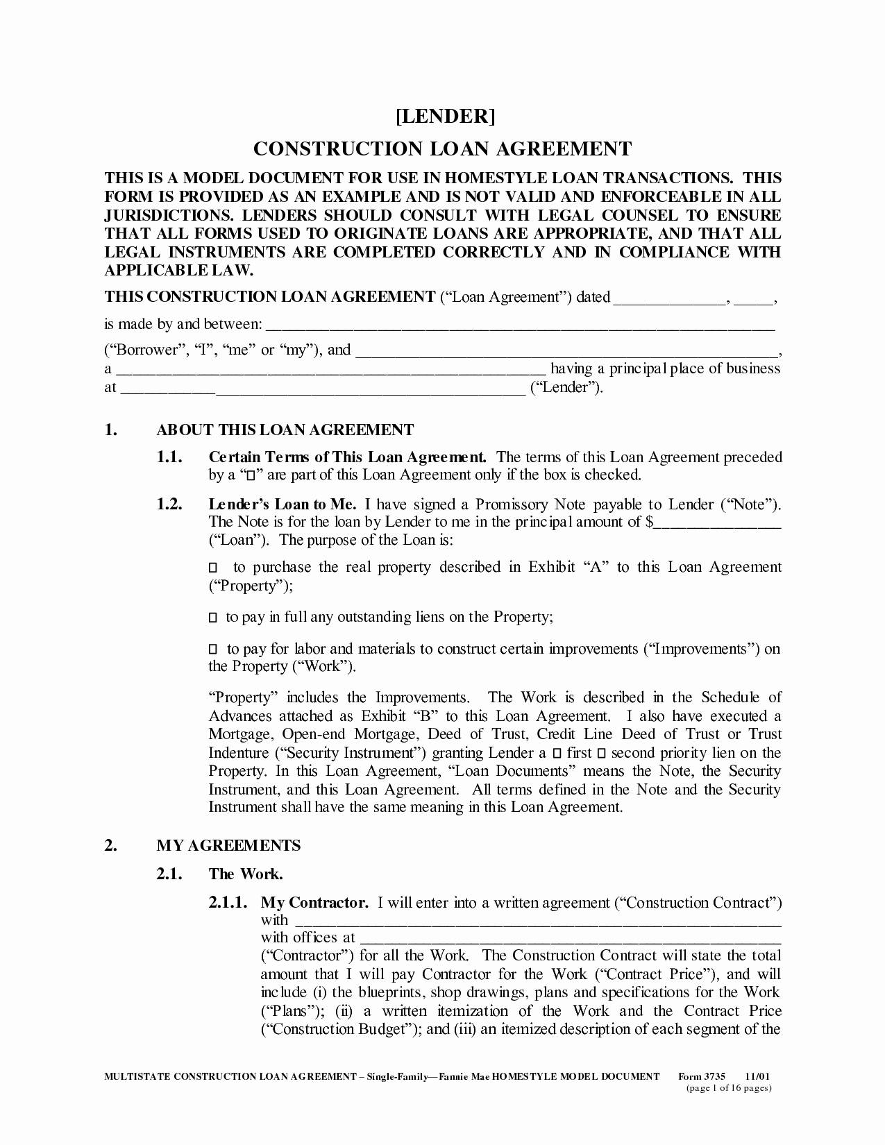 Secured Personal Loan Template