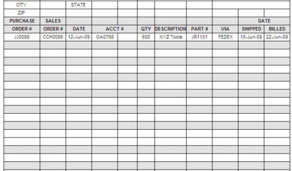 Self Employed Accounts Spreadsheet Example