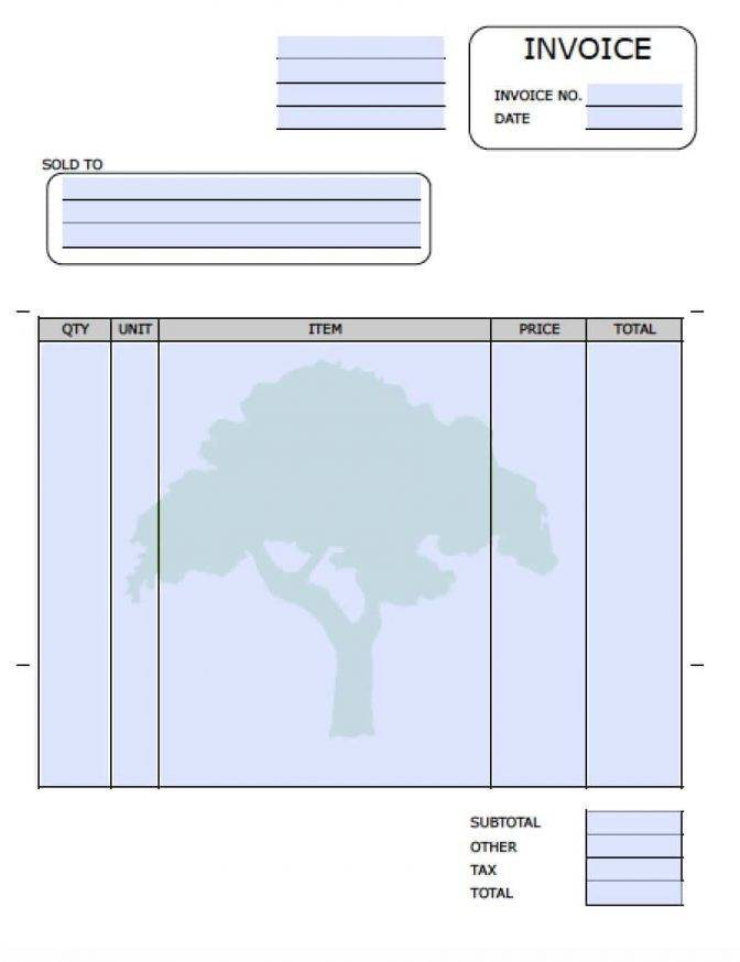Self Employed Invoice Template Doc