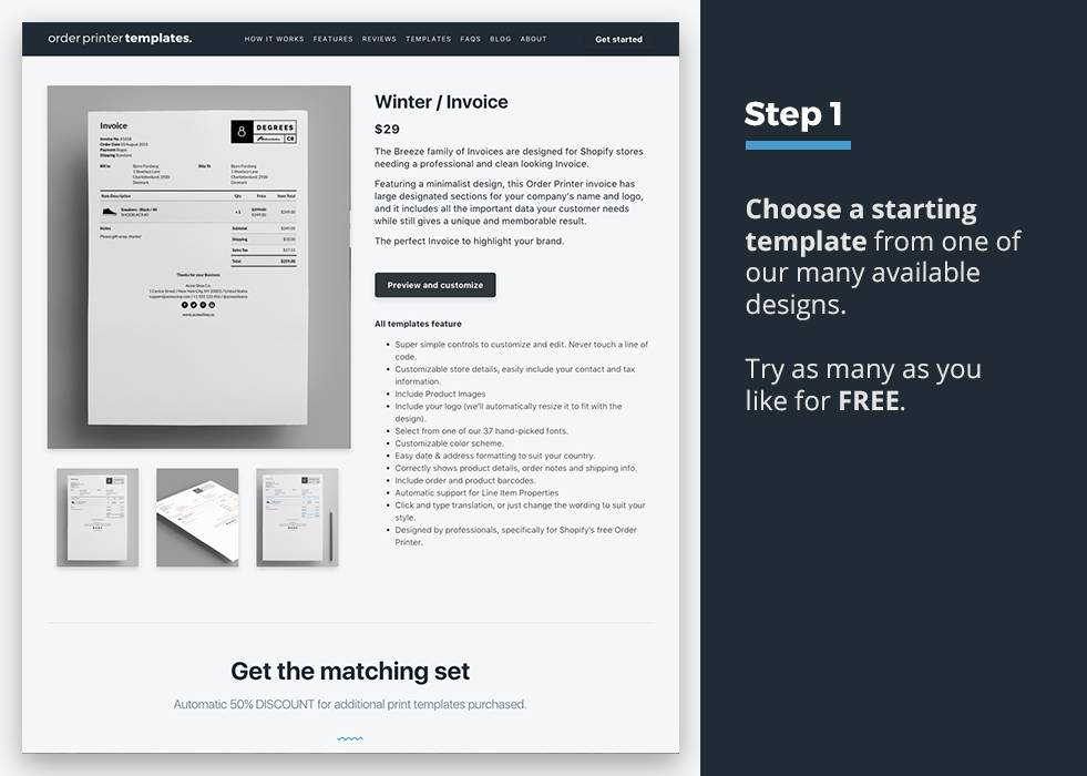 Shopify Invoice Template