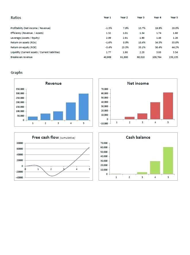 Simple 3 Year Cash Flow Projection Template
