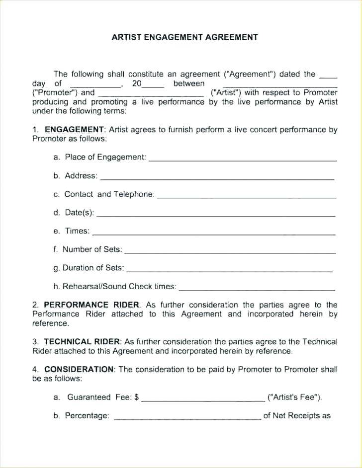 Simple Band Contract Template