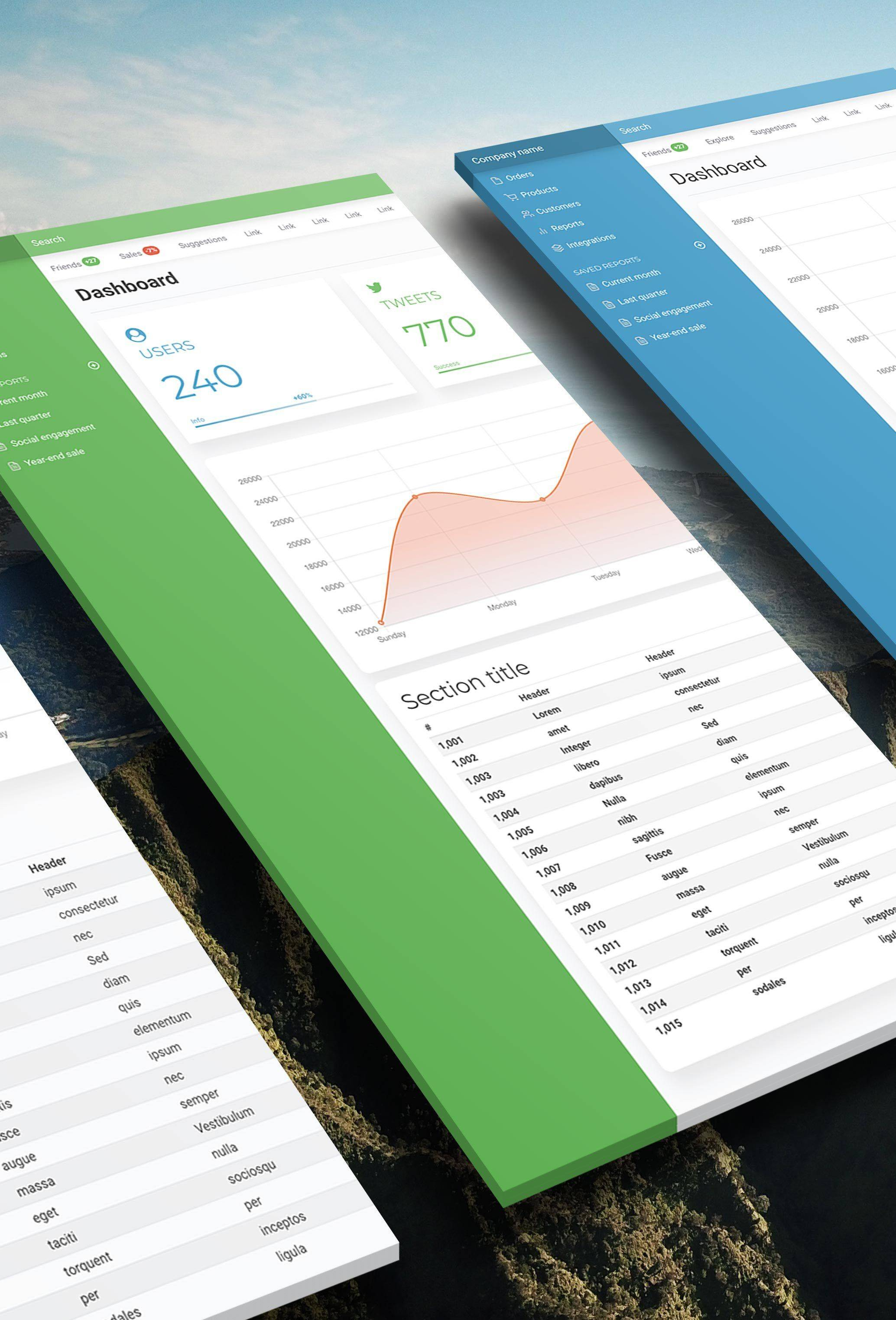 Simple Dashboard Templates