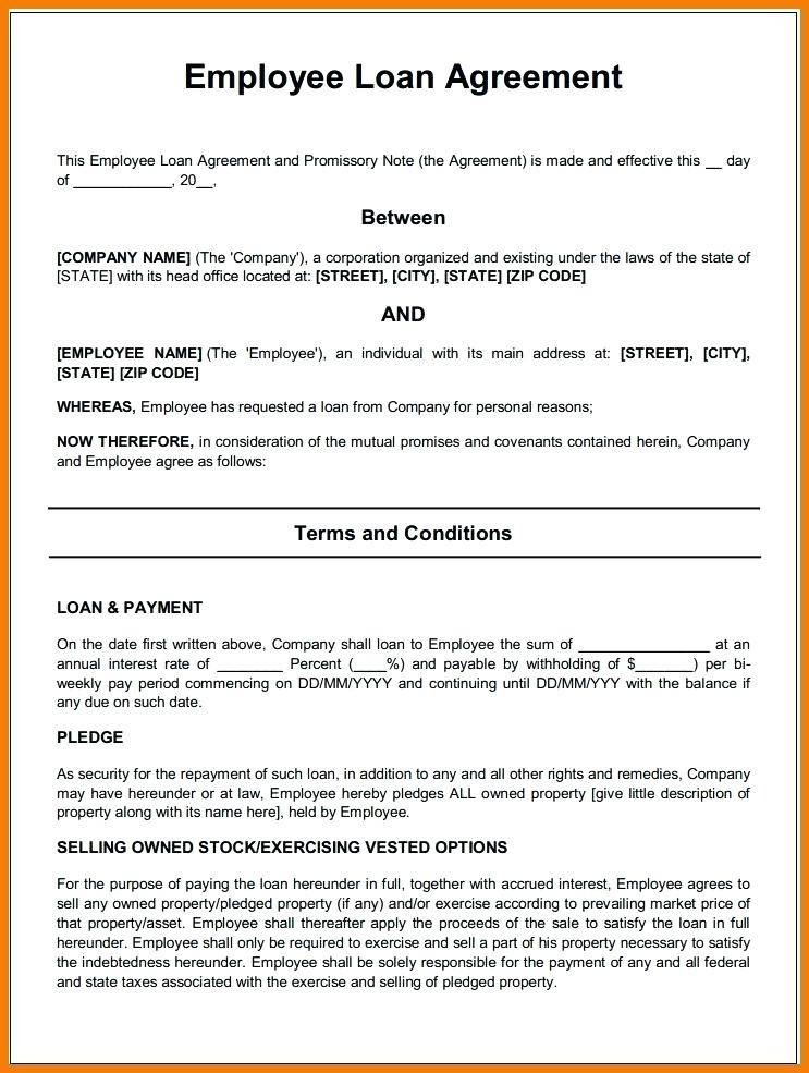 Simple Employee Contract Form