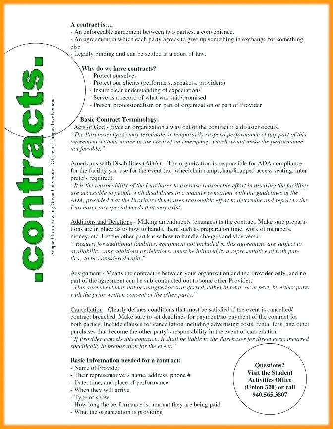 Simple Employment Contract Template Uk