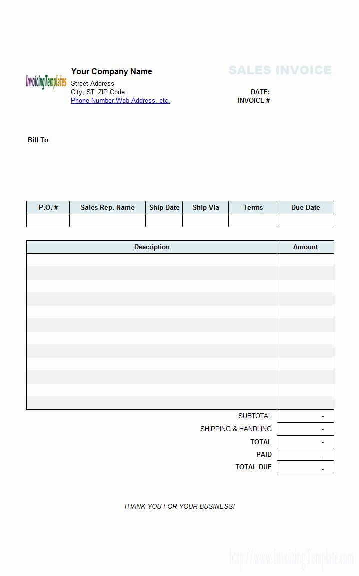 excel invoice template free download for mac