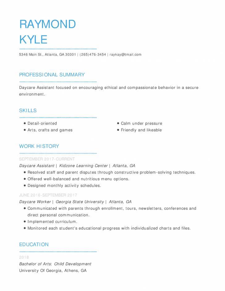 Simple Job Resume Template