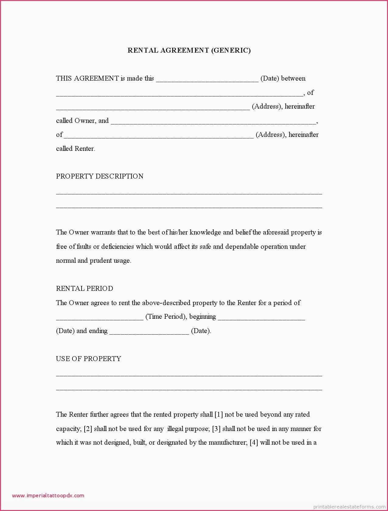 Simple Tenancy Agreement Template Free