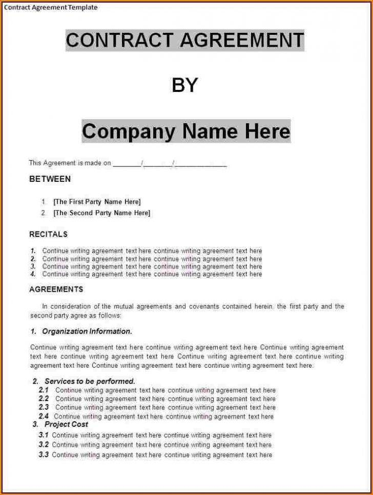 Small Business Contract Templates