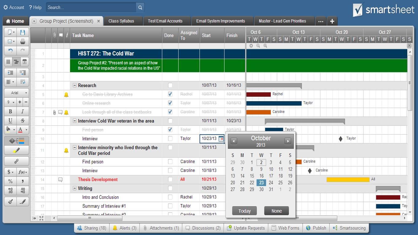 Smartsheet's Gantt Chart Template Review