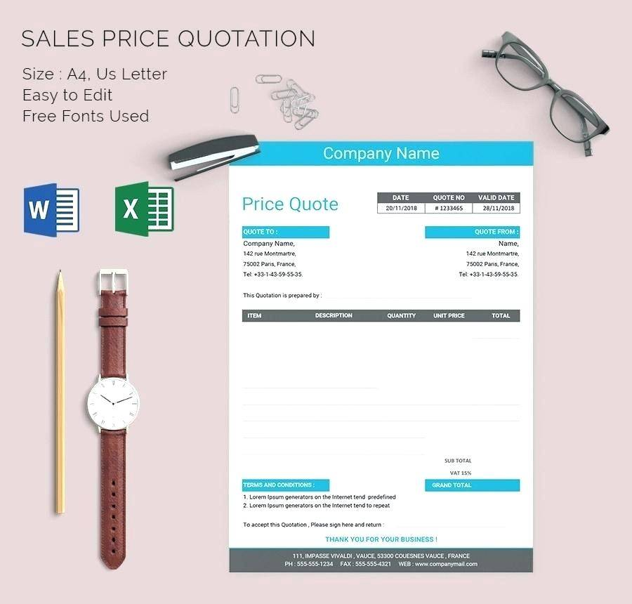 Software Quotation Template Word