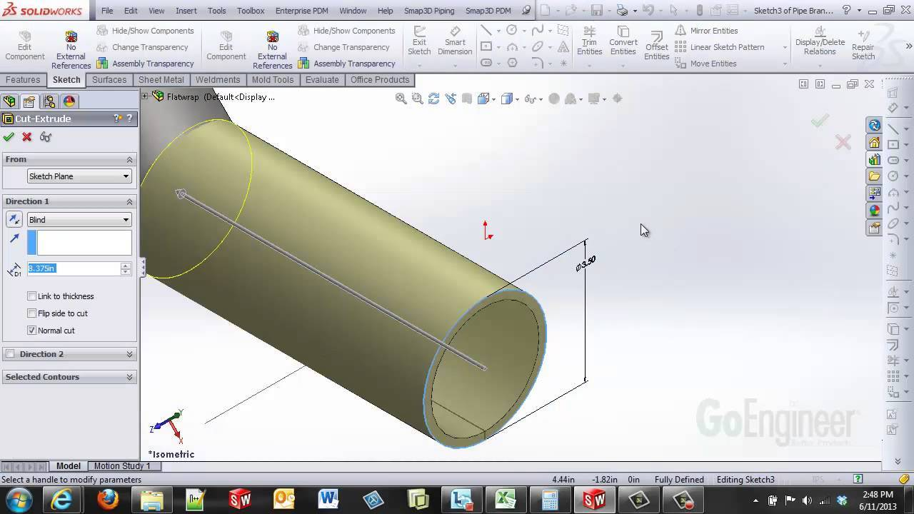 Solidworks Pipe Cutting Template