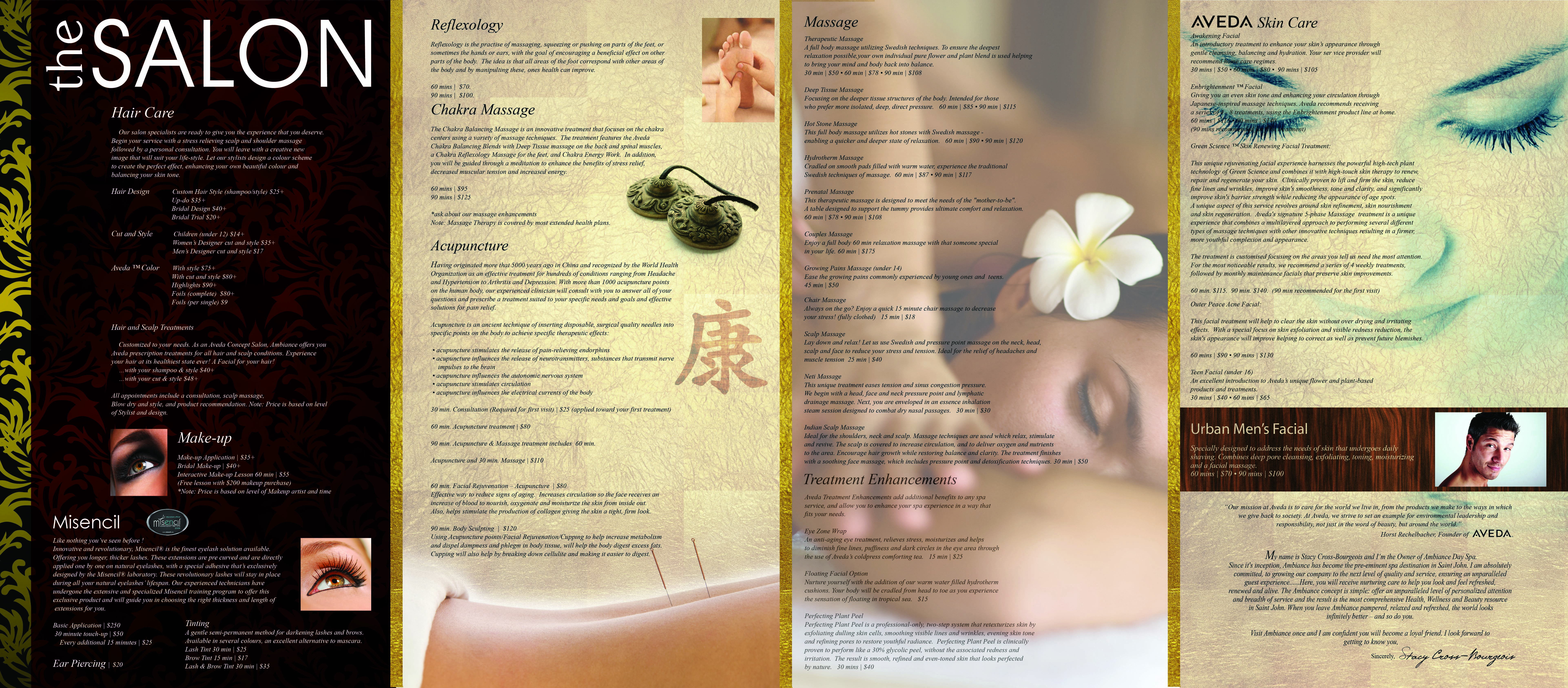 Spa Brochure Layout
