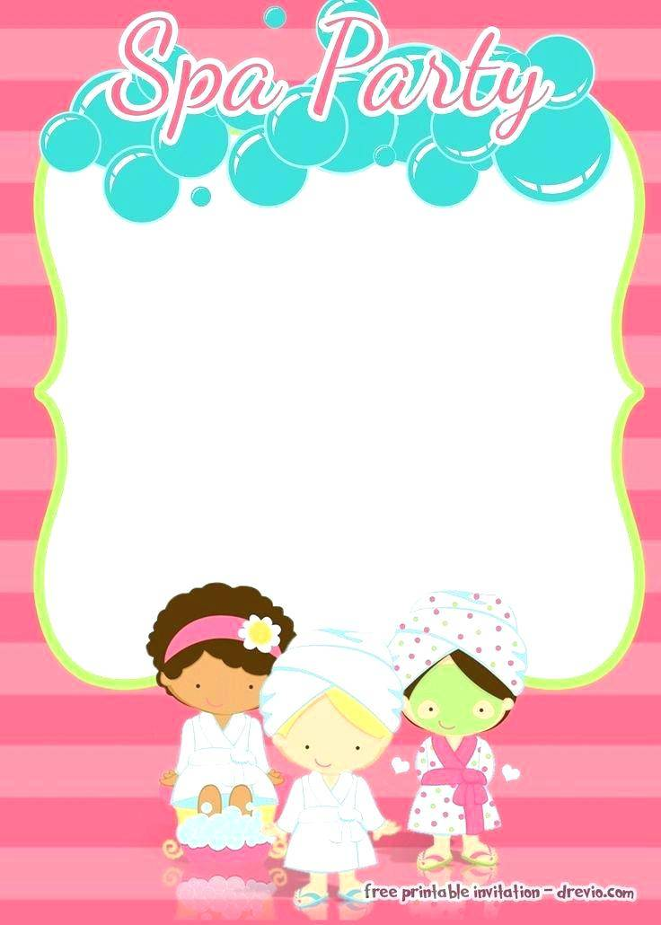 Spa Mask Birthday Invitation Template