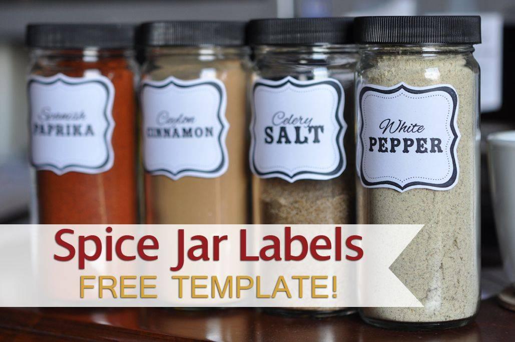 Spice Jar Label Template