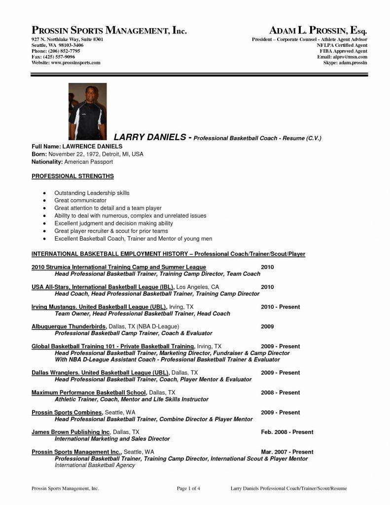 Sports Coach Resume Template