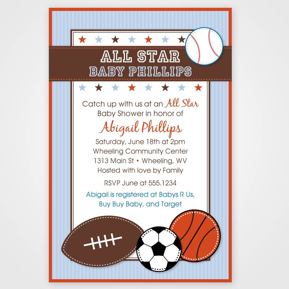 Sports Ticket Baby Shower Invitation Template