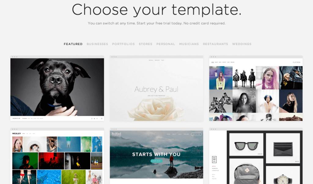 Squarespace Personal Website Templates