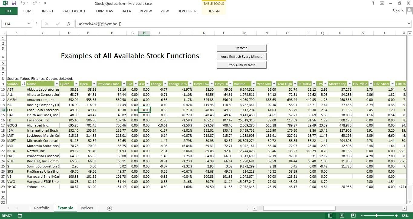 Stock Analysis Excel Template (screener.in)