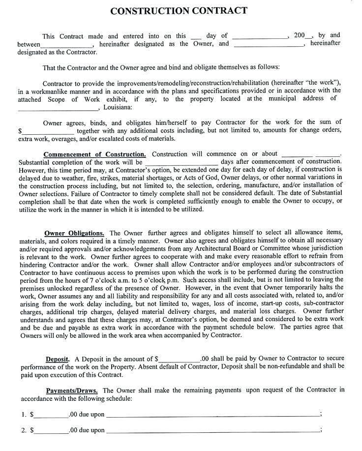 Subcontractor Contract Template Pdf
