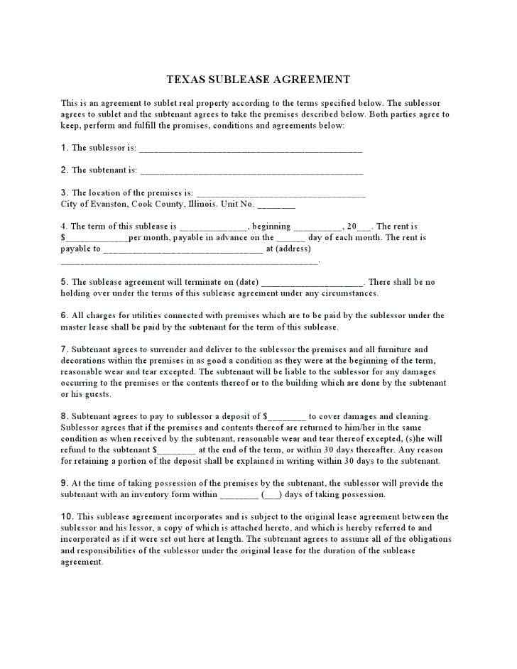 Sublease Agreement Template Germany
