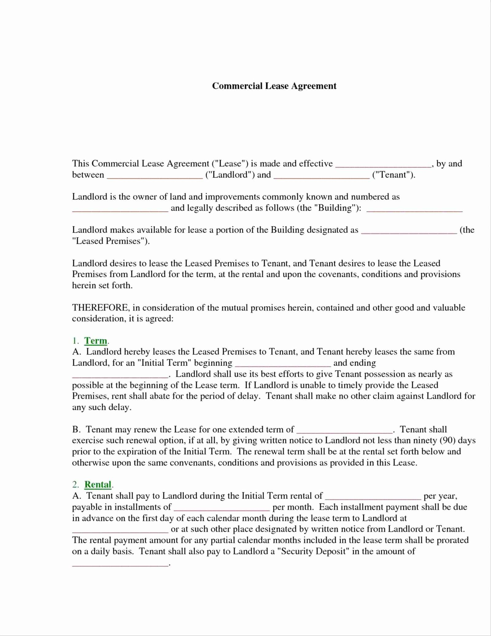 Sublet Contract Form Nyc