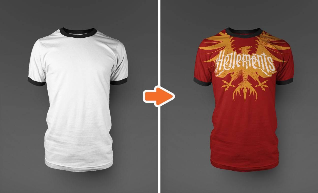 T Shirt Mockup Template
