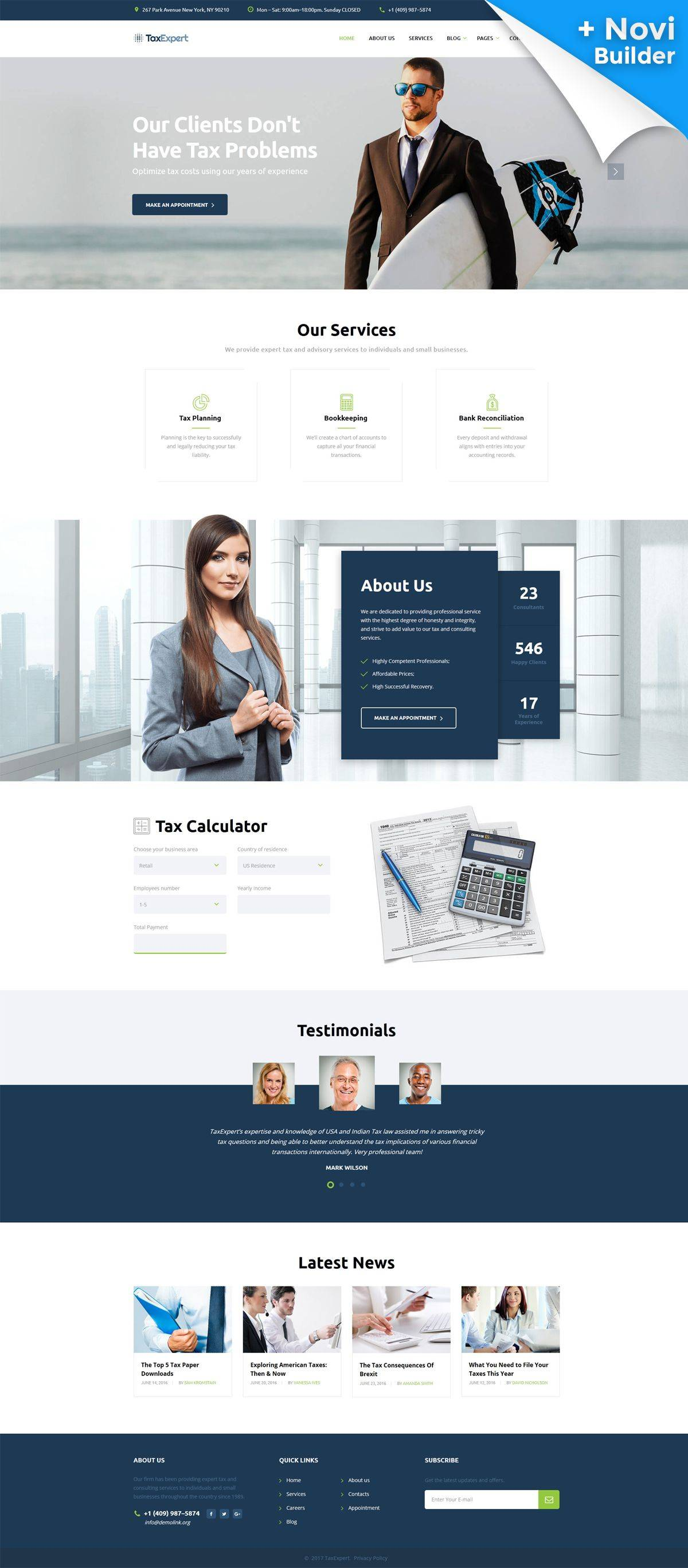 Tax Consultant Website Template