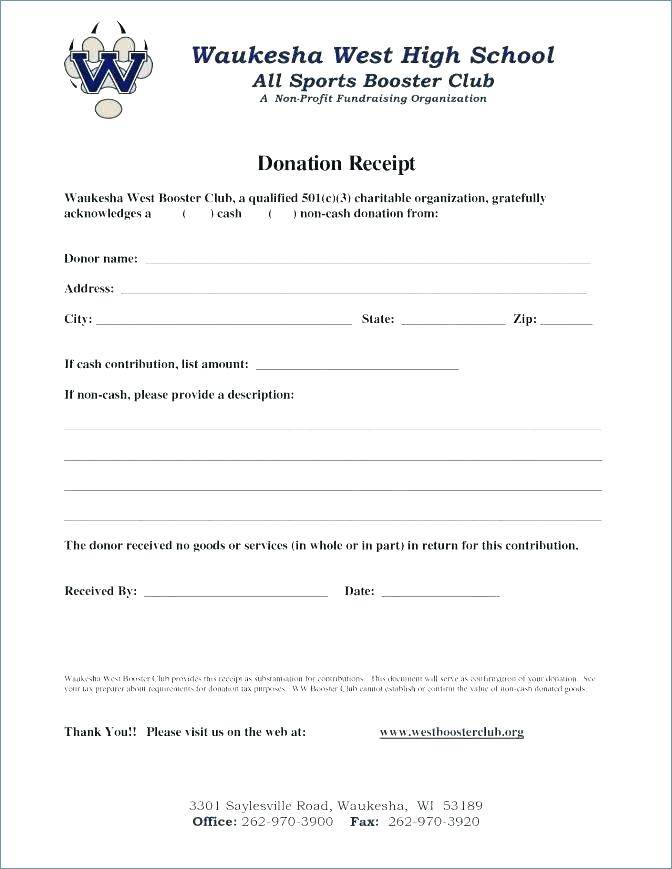 Tax Donation Receipt Format