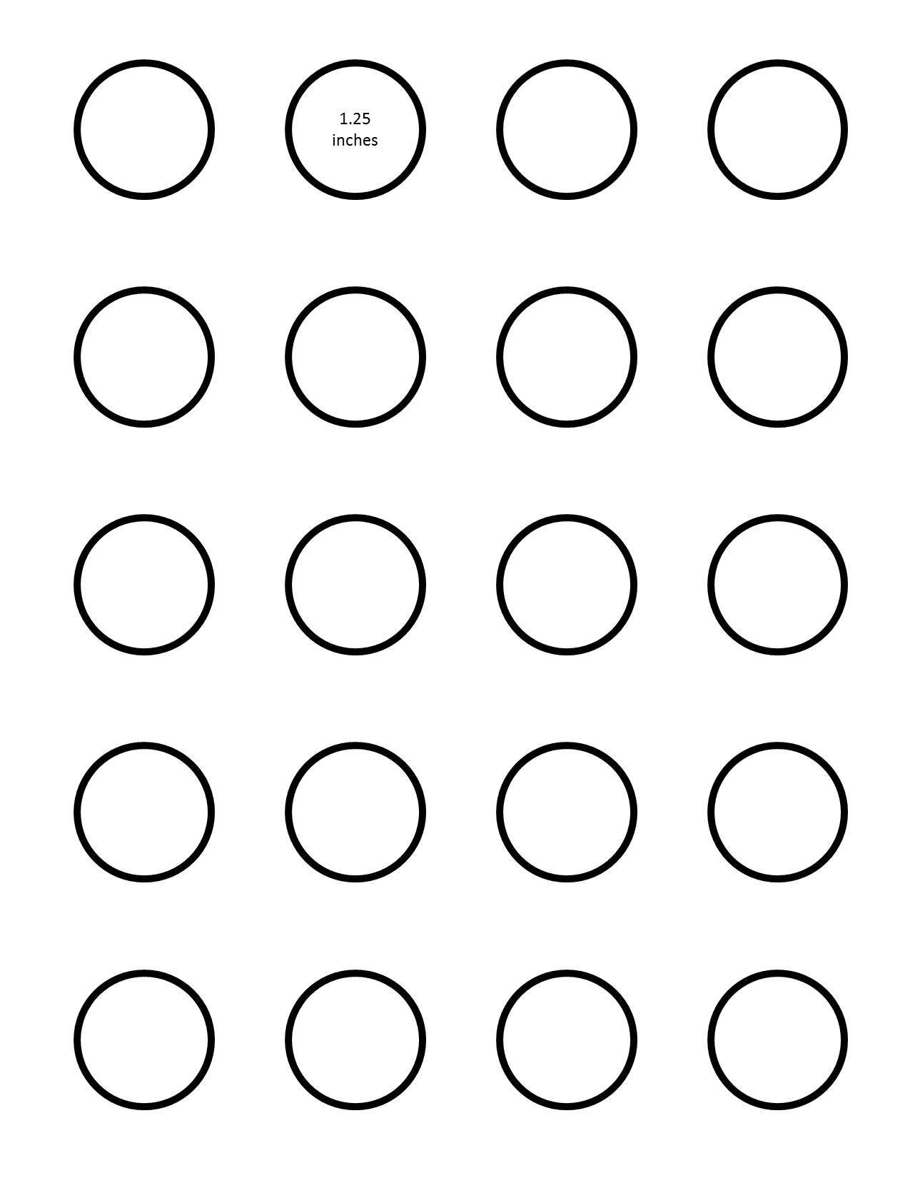 Template For 1.25 Round Labels