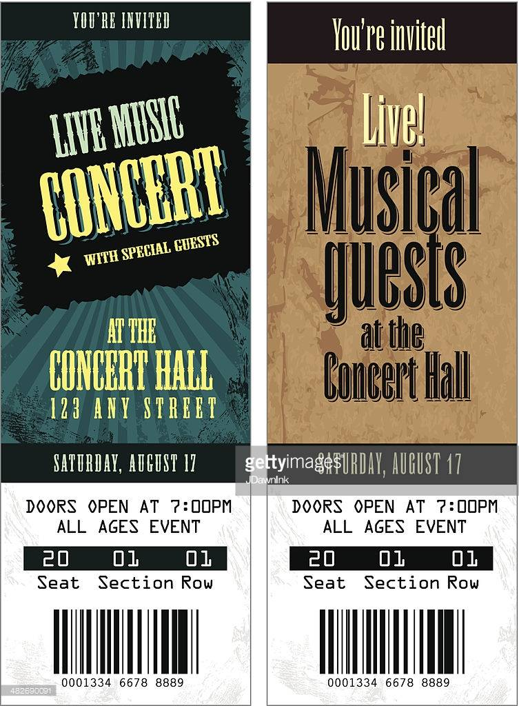Template For Music Concert Ticket
