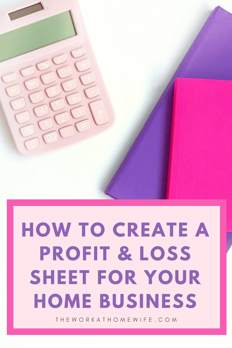 Template For Personal Profit And Loss Statement