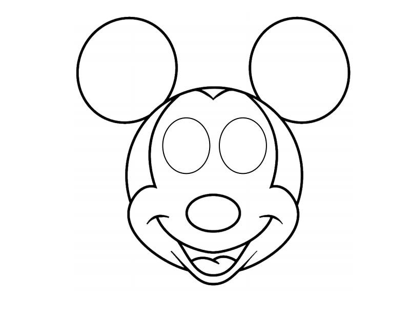 Template Of Mouse Mask