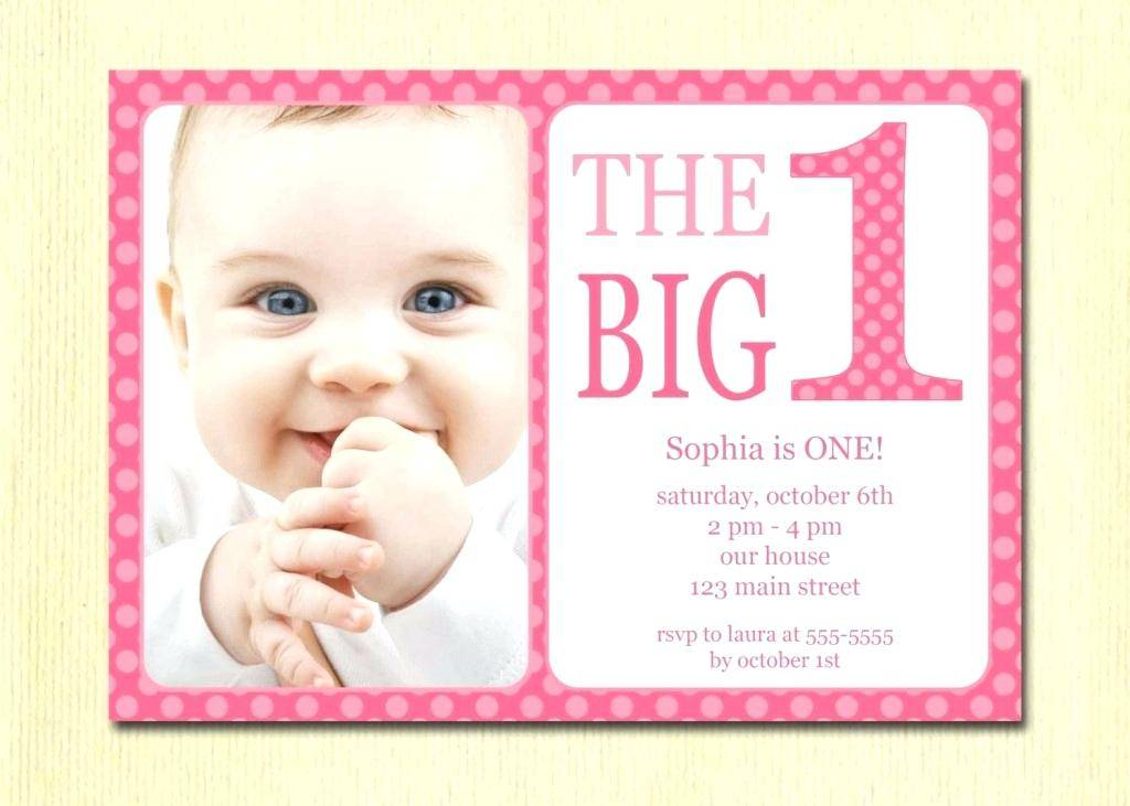 Templates For First Birthday Invitations