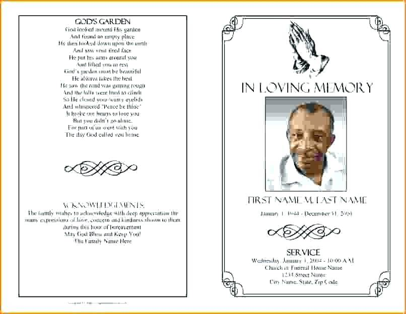 Templates For Funeral Mass Programs