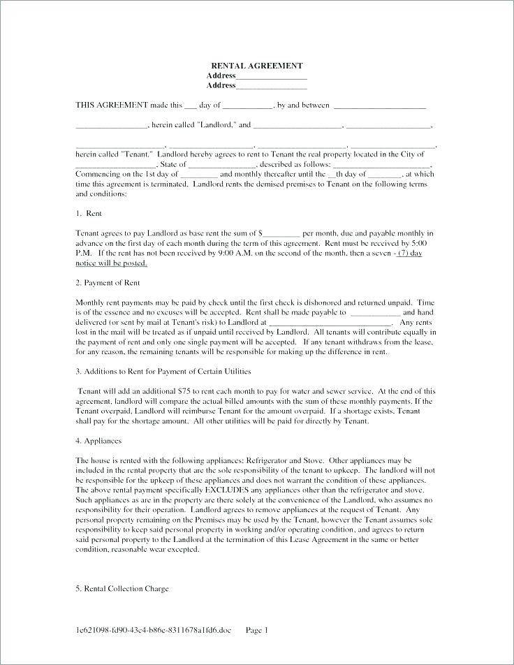 Tenant Agreement Contract Template